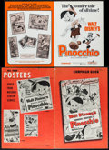 "Movie Posters:Animation, Pinocchio (RKO/Buena Vista, R-1953, R-1962, R-1971). Uncut Pressbooks (3) (Multiple Pages, 11"" X 14.75"", 11.5"" X 15"", 12"" X ... (Total: 3 Items)"