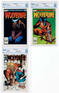 Modern Age (1980-Present):Superhero, Wolverine CBCS-Graded Group of 3 (Marvel, 1982-89) Condition: CBCSNM/MT 9.8.... (Total: 3 Comic Books)