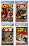 Bronze Age (1970-1979):Adventure, Conan the Barbarian CBCS-Graded Group of 4 (Marvel, 1971-72).... (Total: 4 Comic Books)