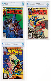 Daredevil #159, 161, and 165 CBCS-Graded Group (Marvel, 1979-80) Condition: CBCS NM+ 9.6.... (Total: 3 Comic Books)