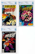 Modern Age (1980-Present):Superhero, Daredevil #166, 169, and 171 CBCS-Graded Group (Marvel,1980-81).... (Total: 3 Comic Books)
