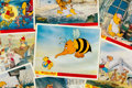Memorabilia:Comic-Related, Winnie the Pooh and the Blustery Day Complete Set of 8 UKLobby Cards (Walt Disney, 1968).... (Total: 8 )
