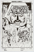 Original Comic Art:Covers, Andy Smith Mighty Avengers Unused Cover Original Art(Marvel, 2009)....