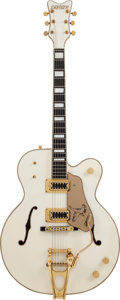 Musical Instruments:Electric Guitars, 1980 Gretsch 7593 White Semi-Hollow Body Electric Guitar, #20037....
