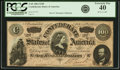 Confederate Notes:1864 Issues, Confederate States of America - T65 $100 1864 PF-2, Cr. 493. PCGS Extremely Fine 40.. ...