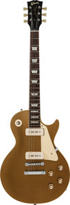 Musical Instruments:Electric Guitars, 1969 Gibson Les Paul Standard Goldtop Solid Body Electric Guitar,Serial #535916....