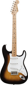 Musical Instruments:Electric Guitars, 1956 Fender Stratocaster Sunburst Solid Body Electric Guitar,Serial #13356....