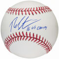 "Autographs:Baseballs, Theo Epstein Single Signed Baseball - ""16 WS Champs""Inscription...."