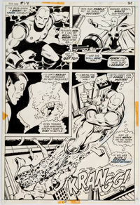 George Tuska and Vince Colletta with Bill Everett Iron Man #54 Story Page 14 Namor and Moondragon Original Art (Ma