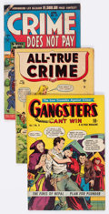 Golden Age (1938-1955):Miscellaneous, Comic Books - Assorted Golden Age Crime Comics Group of 8 (Various Publishers, 1949-51).... (Total: 8 Comic Books)