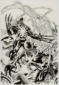 Original Comic Art:Covers, Mark Brooks Wolverine and the X-Men #4 Venom Variant CoverOriginal Art (Marvel, 2012)....