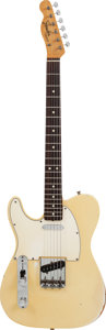 Musical Instruments:Electric Guitars, 1967 Fender Left-Handed Telecaster White/Cream Solid Body ElectricGuitar, #248279....