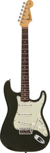 Musical Instruments:Electric Guitars, 1965 Fender Stratocaster Charcoal Frost Solid Body Electric Guitar, #L 57758....
