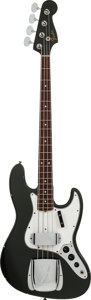 Musical Instruments:Bass Guitars, 1966 Fender Jazz Bass Charcoal Frost Electric Bass Guitar, #128733....