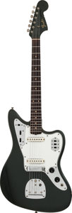 Musical Instruments:Electric Guitars, 1965 Fender Jaguar Charcoal Frost Solid Body Electric Guitar, #L 70908....