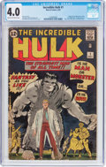 Silver Age (1956-1969):Superhero, The Incredible Hulk #1 (Marvel, 1962) CGC VG 4.0 Cream to off-white pages....
