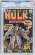 Silver Age (1956-1969):Superhero, The Incredible Hulk #1 (Marvel, 1962) CGC GD/VG 3.0 Cream to off-white pages....