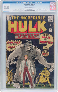 The Incredible Hulk #1 (Marvel, 1962) CGC GD/VG 3.0 Cream to off-white pages