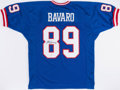 Football Collectibles:Uniforms, Mark Bavaro Signed New York Giants Jersey....