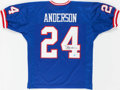 """Football Collectibles:Uniforms, Ottis """"O.J."""" Anderson Signed New York Giants Jersey...."""