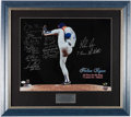"""Autographs:Photos, Baseball Greats """"No-Hitter"""" Multi-Signed Photograph - Nolan Ryanand others...."""