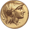 Ancients:Greek, Ancients: MACEDONIAN KINGDOM. Alexander III the Great (336-323 BC). AV stater (18mm, 6h). ANACS AU 55....