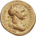 Ancients:Roman Imperial, Ancients: Trajan (AD 98-117). AV aureus (18mm, 7.09 gm, 6h). Fine....