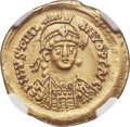 Ancients:Byzantine, Ancients: OSTROGOTHIC ITALY. Athalaric (AD 526-534). AV solidus(21mm, 4.42 gm, 6h). NGC AU 5/5 - 4/5, crimped....