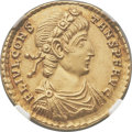 Ancients:Roman Imperial, Ancients: Constans (AD 337-350). AV solidus (21mm, 4.46 gm, 6h). NGC Choice AU 5/5 - 4/5....