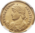 Ancients:Roman Imperial, Ancients: Valentinian I (AD 364-375). AV solidus (22mm, 4.40 gm, 6h). NGC Choice XF ★ 5/5 - 5/5....