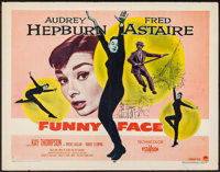 """Funny Face & Other Lot (Paramount, 1957). Half Sheets (2) (22"""" X 28""""). Romance. ... (Total: 2 Items)"""