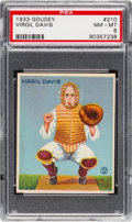 Baseball Cards:Singles (1930-1939), 1933 Goudey Virgil Davis #210 PSA NM-MT 8 - None Higher....