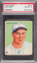 Baseball Cards:Singles (1930-1939), 1933 Goudey John Kerr #214 PSA NM-MT 8 - None Higher....