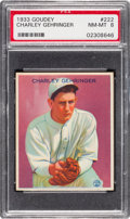 Baseball Cards:Singles (1930-1939), 1933 Goudey Charley Gehringer #222 PSA NM-MT 8 - None Higher....