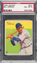 Baseball Cards:Singles (1930-1939), 1933 Goudey Bill Herman #227 PSA NM-MT 8 - Only One Higher....