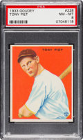Baseball Cards:Singles (1930-1939), 1933 Goudey Tony Piet #228 PSA NM-MT 8 - Only One Higher....
