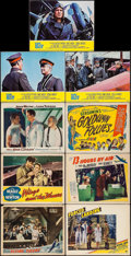 """Movie Posters:War, Flying Tigers & Others Lot (Republic, 1942). Lobby Cards (8)& Title Card (11"""" X 14""""). War.. ... (Total: 9 Items)"""
