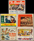 "Movie Posters:Fantasy, Ali Baba and the Forty Thieves & Others Lot (Universal, 1944). Title Lobby Cards (4) & Lobby Card (11"" X 14""). Fantasy.. ... (Total: 5 Items)"