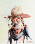 Paintings, Fred Harman (American, 1902-1982). Ol' Bill. Oil on canvas. 14 x 11 inches (35.6 x 27.9 cm). Signed lower right: Fred ...