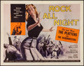 "Movie Posters:Rock and Roll, Rock All Night (American International, 1957). Half Sheet (22"" X28""). Rock and Roll.. ..."