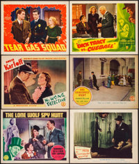 """The Lone Wolf Spy Hunt & Others Lot (Columbia, 1939). Lobby Cards (6) (11"""" X 14""""). Mystery. ... (Total..."""