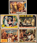 "Movie Posters:Crime, Night Cargo & Others Lot (Peerless Pictures, 1936). Title LobbyCard & Lobby Cards (4) (11"" X 14""). Crime.. ... (Total: 5Items)"
