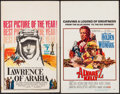 "Movie Posters:Academy Award Winners, Lawrence of Arabia & Other Lot (Columbia, 1963). Window Cards (2) (14"" X 22""). Academy Award Winners.. ... (Total: 2 Items)"