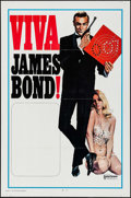 "Movie Posters:James Bond, Viva James Bond (United Artists, 1970). International Stock One Sheet (27"" X 41""). James Bond.. ..."