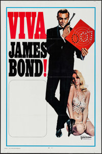 "Viva James Bond (United Artists, 1970). International Stock One Sheet (27"" X 41""). James Bond"