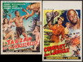 "Movie Posters:Adventure, Tarzan's Three Challenges & Others Lot (MGM, 1963). Belgians(5) (14"" X 21.5"", 14.5"" X 18.75"" ). Adventure.. ... (Total: 5Items)"
