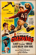"Movie Posters:Sports, Crazylegs (Republic, 1953). One Sheet (27"" X 41""). Sports.. ..."