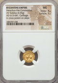 Ancients:Byzantine, Ancients: Heraclius (AD 610-641) & Heraclius Constantine (AD613-641). AV solidus (4.55 gm). NGC MS 4/5 - 5/5....