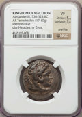 Ancients:Greek, Ancients: MACEDONIAN KINGDOM. Alexander III the Great (336-323 BC). AR tetradrachm (17.10 gm). NGC VF 5/5 - 3/5, graffito....
