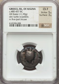 Ancients:Greek, Ancients: ISLANDS off ATTICA. Aegina. Ca. 480-457 BC. AR Stater(21mm, 11.90 gm). NGC Choice Fine 5/5 - 3/5....